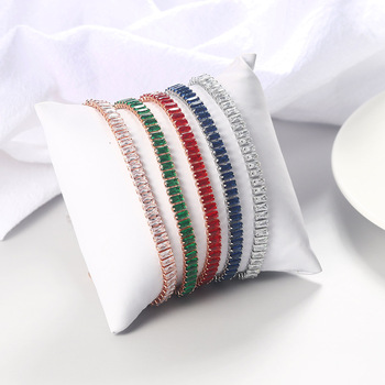 Luxury 2.5*5 mm Multicolor Zircon Tennis Bracelet  5