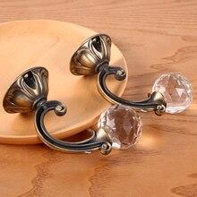 2 unids/par gancho de cortina de aleación de Zinc de alta calidad Vintage gancho de Cortina de cristal Artificial