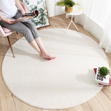Modern Plain Round Living Room Floor Mat Carpet Sofa Coffee Table Non-slip Home Bedroom Bedside Mat fashion round carpet bedroom ins bedroom living room coffee table mat bedside carpet anti slip mat strong absorbent carpet