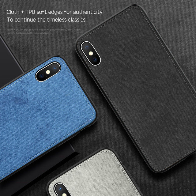 New Fabric Ultra-thin Canvas Silicon Case For iphone 7 8 6 6s Plus 11 Pro X Xs Max Xr Cloth Texture Soft Protective Cover Coque