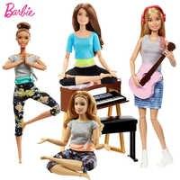 Todas as articulações mover barbie brinquedos de ginástica yoga boneca boneca esporte bonecas originais para menina aniversários presentes brinquedos para crianças juguetes