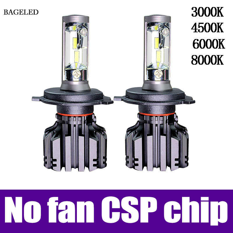 BAGELED H4 LED H7 H11 H8 9006 9005 HB4 H1 H3 HB3 CSP 4500K Car Auto Headlight 50W 6000LM Low Beam Bulb Automobile Lamp 6500K