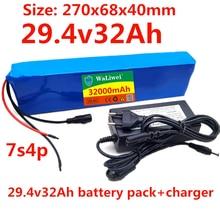 24v 32ah bateria 7s4p bicicleta elétrica motor ebike scooter li-ion bateria 29.4v 18650 baterias recarregáveis bms + carregador