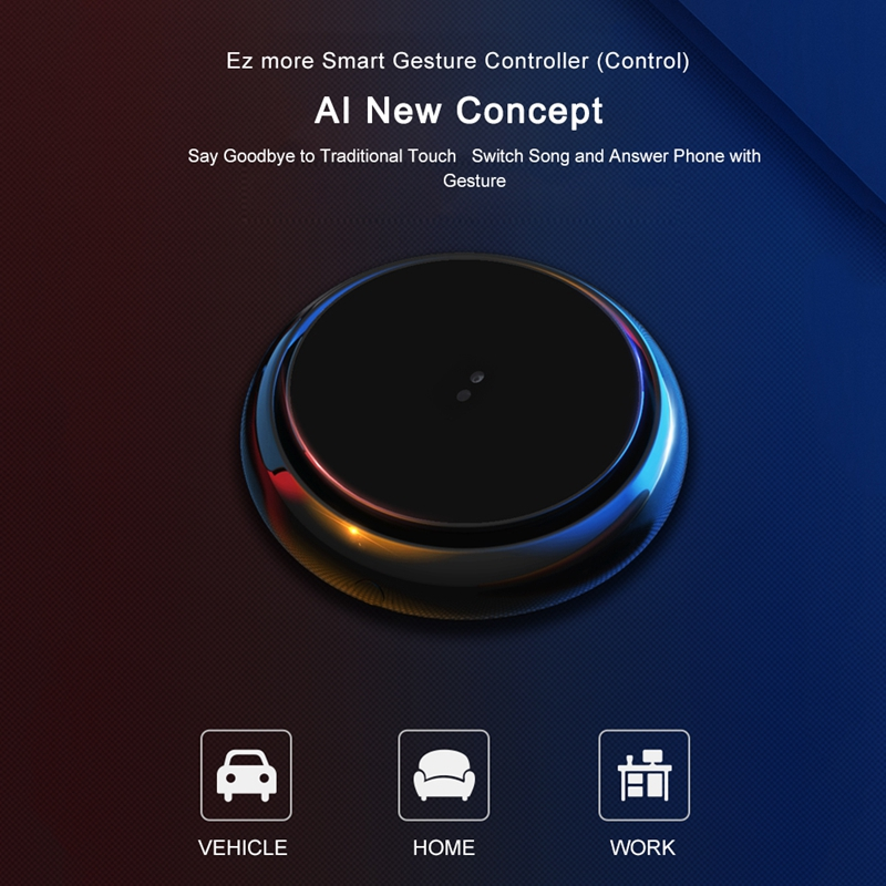 Xiaomi EZ More 2019 New AI TechWireless Bluetooth  Gesture Multimedia Controller Mini Smart Remote Music Hand Control Headset
