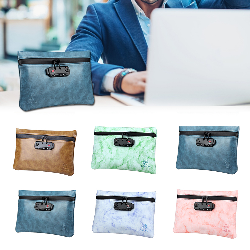 Smell Proof Bag PU Leather Bag 100% Activated Carbon Storage Bag Waterproof Odorless Pouch Case With Combination Lock