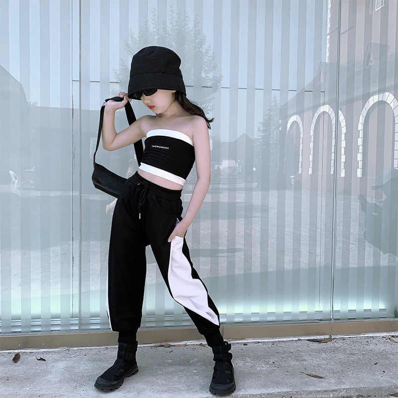 Traje De Verano Para Ninas Ropa De Tubo Negro Tops Pantalones Informales Que Combinan Con Los Colores 9 10 11 12 Y 13 Anos 2020 Set De Ropa Aliexpress