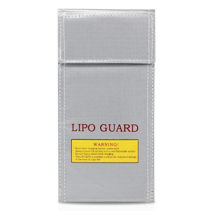 LiPo Battery Guard Bag Fire Resistant Safety Protective Bag Charger Sack (10 X 20cm)