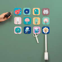 цена на Wall Hook 10 Magic Paste Hooks For Hanging Wall Stick Hooks No Trace Strong Transparent Hook Free Nail Stick Adhesive Hook
