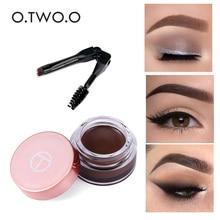 O.TWO.O гель для бровей 6 цветов 3D натуральный коричневый тени для бровей Make Up Profesional Long Lasting Brow paint Cosmetics With Brush