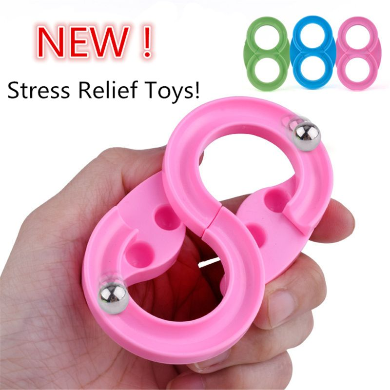 New Stress Relief Toy 8 Track Fidget Pad Cube Challenging Desk Toy Handle Toys