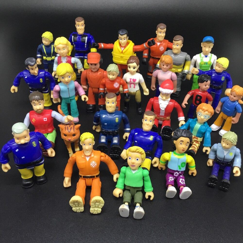 6pcs 8pcs 12pcs/lot Joint Movable Fireman Sam Action PVC Toys For Kids