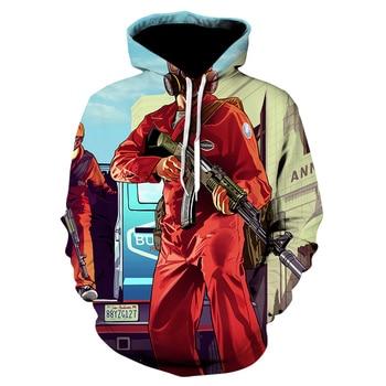 2020 Grand Theft Auto 3D GTA 5 Fancy hoodies Long Sleeve Street Style hooed jacket High Quality Unisex gta5 game sweatshirt 2