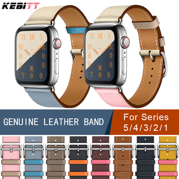 цена Genuine leather single tour bands for apple watch series 3 2 1, iwatch 4 band strap replacement belt for apple watch 5 40mm 44mm онлайн в 2017 году
