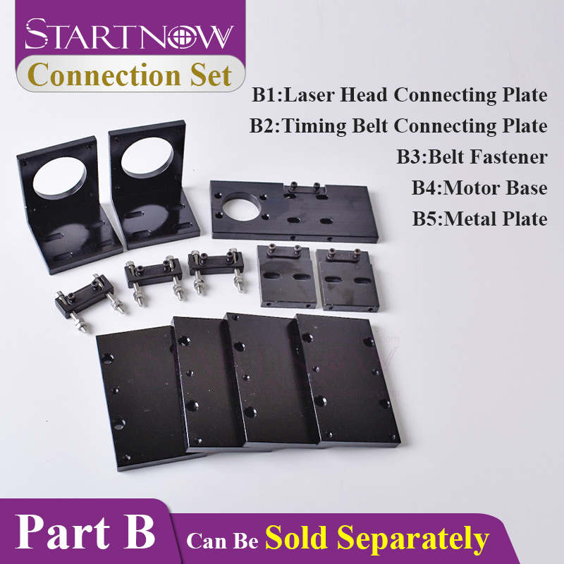 57 Stepper Motor Base Mounting Support & Timing Belt Fastener & Connecting Plate Installation Board For CNC CO2 Laser Machine