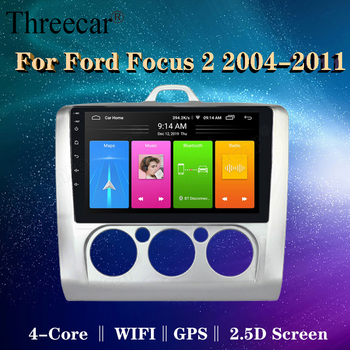 2 DIN 9 Inch Android 9.0 GPS Navigation Touchscreen Quad-core Car Radio For Ford Focus Exi AT2004 2005 2006 2007 2008-2011 image