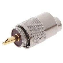 A tomada masculina da frequência ultraelevada pl259 parafusou o conector de acoplamento rf da frequência ultraelevada coaxial pl259 friso rg8u RG58-3 4.5*1.5cm