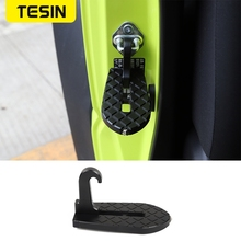 Pedały TESIN dla Jimny 2019 + podnóżek drzwi samochodu składane podnóżki młotek bezpieczeństwa akcesoria dla Suzuki Jimny JB74 2019 2020