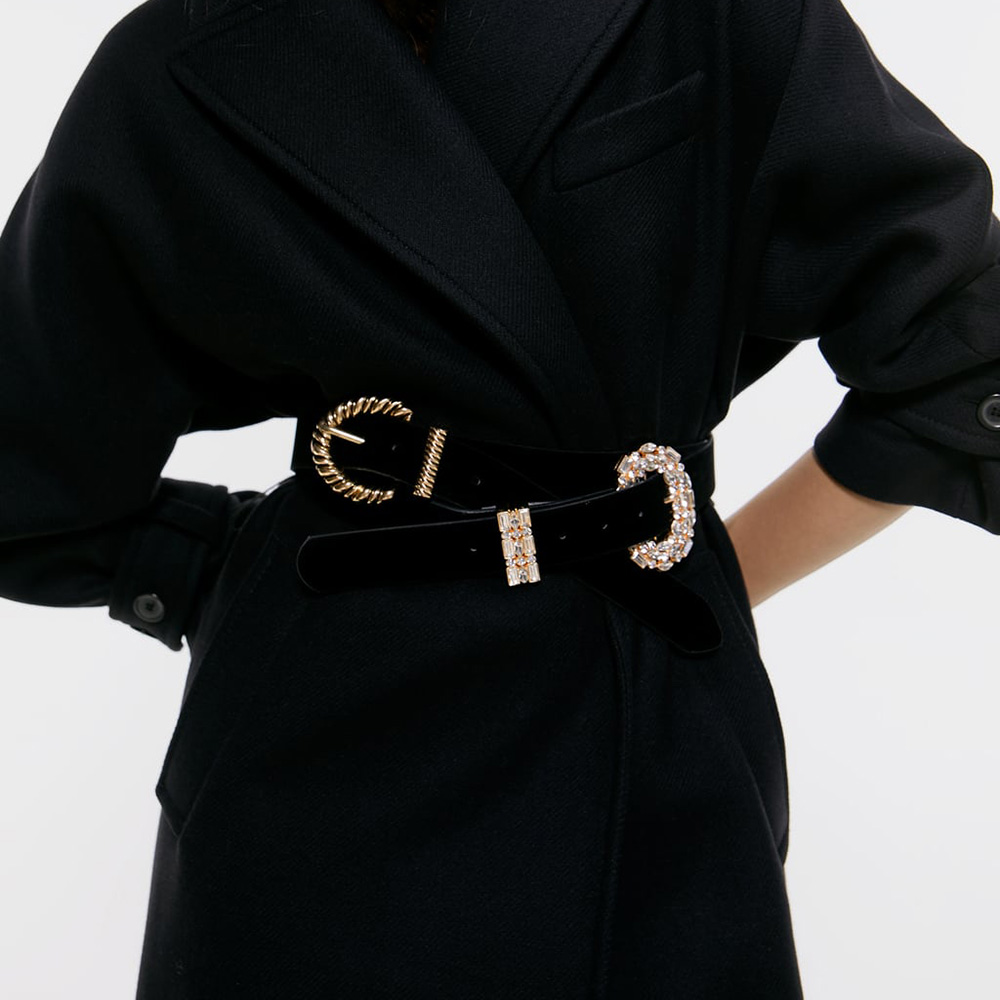 New ZA Belt Fashion Elegant Black Belts For Women 2019 Charm Statement Belts Female Lady Accessories Wedding Party Gift Travel
