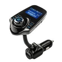 Bluetooth Handsfree автомобильный комплект аудио MP3 плеер TF USB беспроводной fm-модулятор с Умной зарядкой двойной USB Автомобильное зарядное устройство