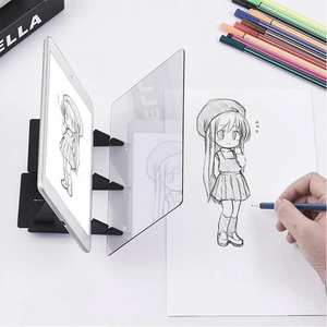 Sketch Mirror Bracket-Holder Painting Drawing-Board Table Imaging Reflection Tracing