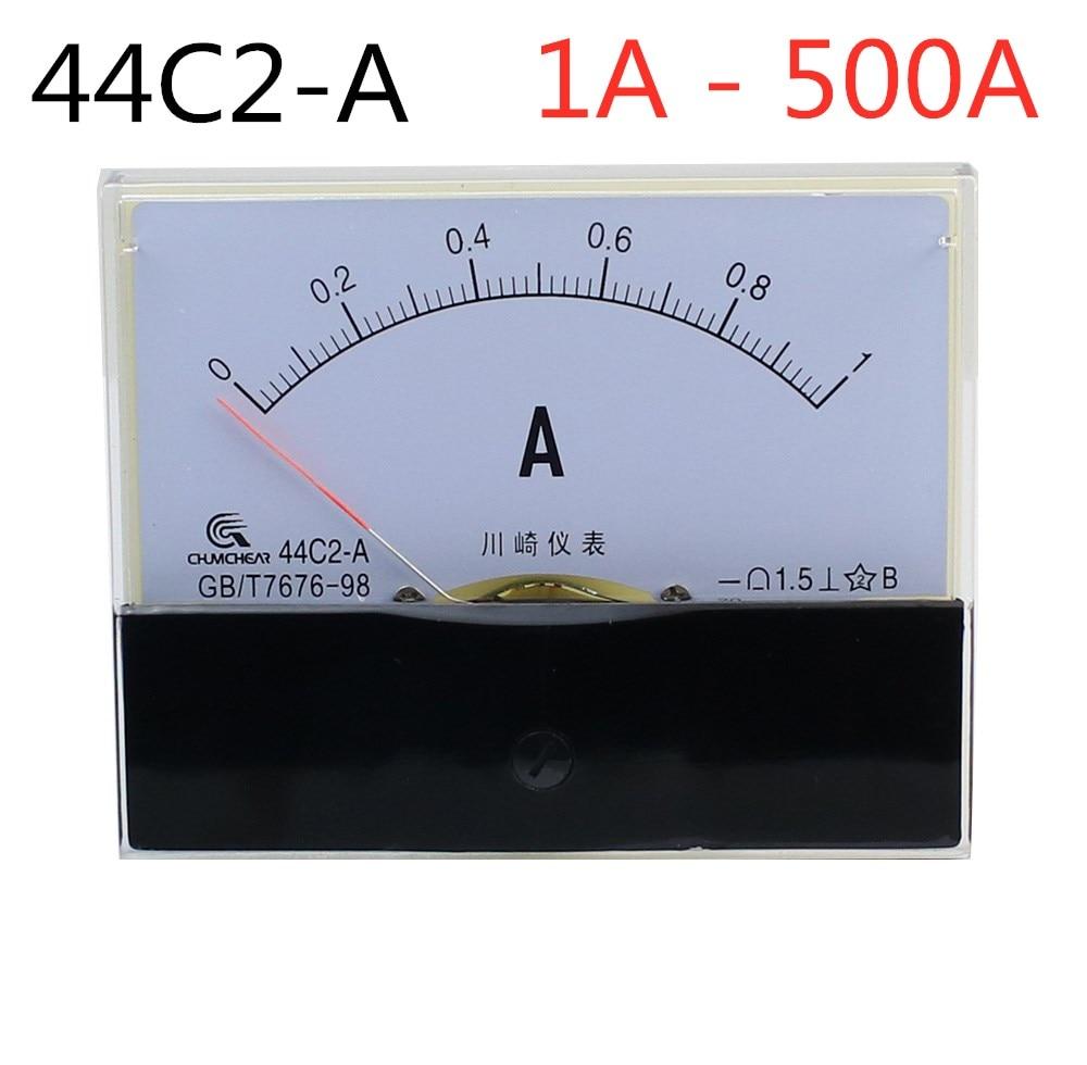 44C2-A 1A 2A 3A 5A 10A 15A 20A 30A 50A 100A класс 1,5 Точность DC 0-5A аналоговые Панель метр амперметр