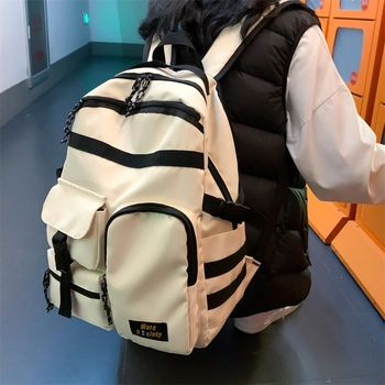 College High School Bags for Boys Girls Teenage Student Men Backpack School Women Campus Teen Bookbags Large Capacity  New fashionable backpack for men pu waterproof backpack for high school students campus schoolbags large capacity computer