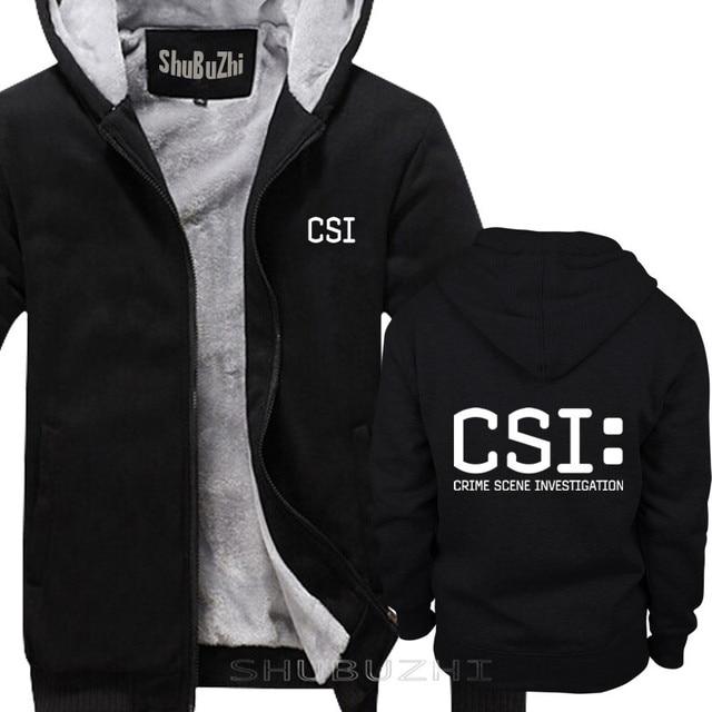 TV crime scene investigation police forensic CSI warm coat Fashion Brand thick jacket men new DIY high quality sbz5225