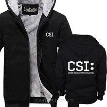 Tv 범죄 현장 조사 경찰 법의학 csi 따뜻한 코트 패션 브랜드 두꺼운 재킷 남자 새로운 diy 고품질 sbz5225