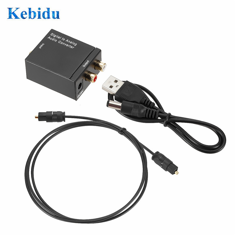 Digital to Analog Audio Converter 3.5MM Jack 2*RCA Amplifier Decoder Optical Fiber Coaxial Signal to Analog DAC Spdif Stereo 2