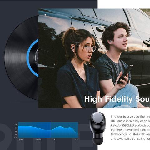 TWS Bluetooth 5.0 Earbuds Headphones Wireless Headset Noise Cancelling 2019 Multan