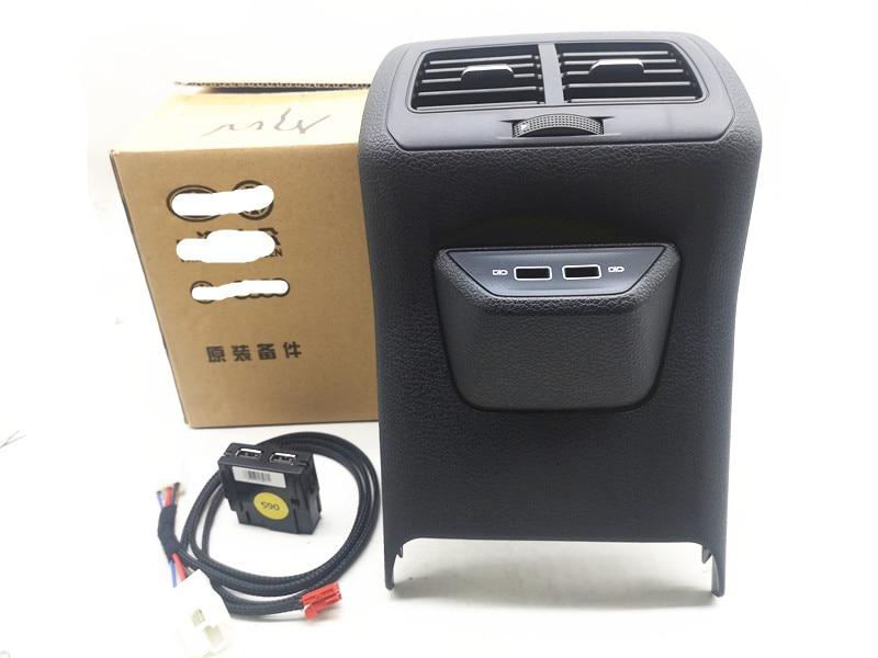 Задняя воздуха на выходе Vent отделка рамка в сборе центрального подлокотника с USB для VW Golf 7 MK7 2013 2014 2015 2016 2017 2019 5GG 864 298B 82V