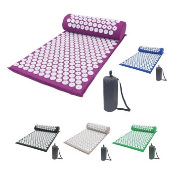 Acupressure Massage Mat or Yoga Mat with pillow set to release Body Pain for Fitness and health