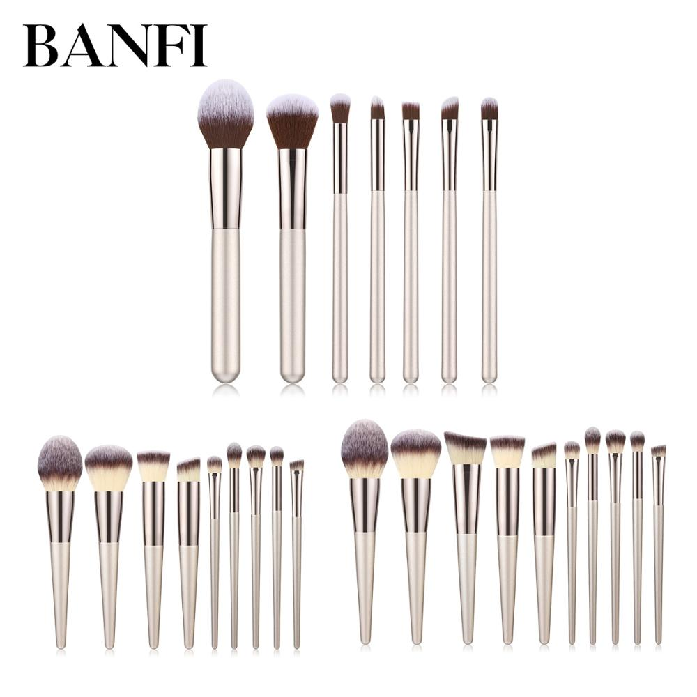 7/9/10pcs Makeup Brushes Set Beauty Foundation Power Blush Eye Shadow Brow Lash Fan Lip Concealer Face MakeUp Tool Brush Kit New