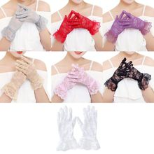 Dressy Gloves Women High Quality Lace Gloves Paragraph Wedding Gloves Mittens Accessories Full Finger Girls Lace Fashion Gloves