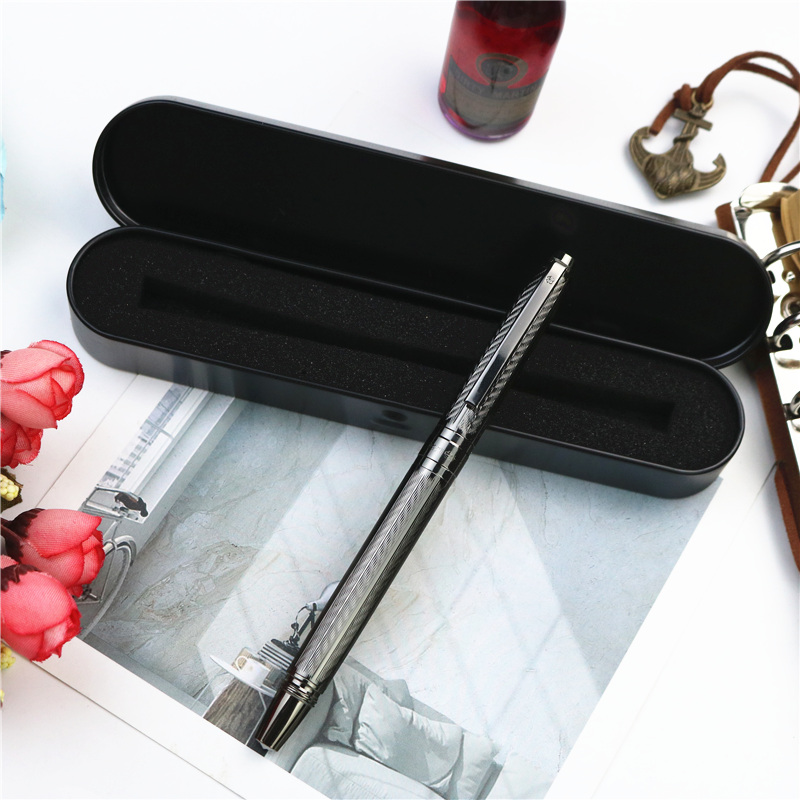 Girl new style fountain pen Office writing gifts New concept wavy texture ink pen 4 colors can choose with or without gift boxes