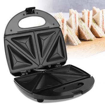 baked hamburger machine toaster 850w hamburg double layer machine toaster board bun toaster food baking mcdonald s kfc burger 750W Electric Sandwich Maker Double Heating Nonstick Baking Plate Pancake Sandwich Machine Toaster Breakfast Machine