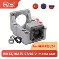 Алюминиевый HM12-57/60-V HM15 шаговый Серводвигатель винт сиденья опорный подшипник фиксированный интегрированный кронштейн для NEMA23 NEMA 24