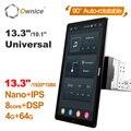 13,3 дюймов Android 10,0 Ownice авто поворотный 10,1 дюймов 1920*1080 IPS Nano универсальный автомобильный радиоприемник Мультимедиа Стерео Аудио HDMI