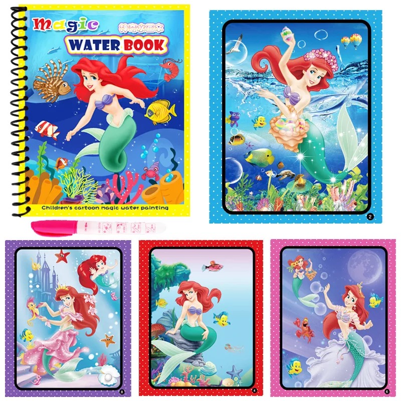 Montessori Painting Drawing Board For Kids Toys Magic Water Drawing Book Birthday Gift Coloring Book Doodle & Magic Pen