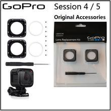 Cadre de protection dobjectif pour Gopro 100% Original/couvercle dobjectif en verre UV/capuchon et outils pour Gopro Hero 5 Session 4 accessoires de caméra