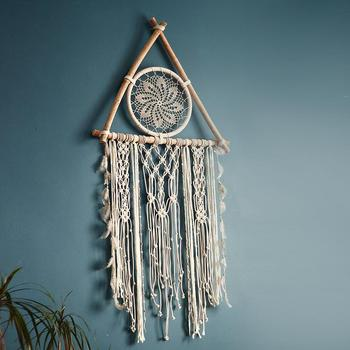 Macrame Wall Hanging Boho Decor Macrame Tapestry  Woven Room Decoration Apartment Bedroom Living Room Baby Nursery Gift large macrame tapestry macrame wall hanging farmhouse decor makramee room decoration tapestry wall gift for women