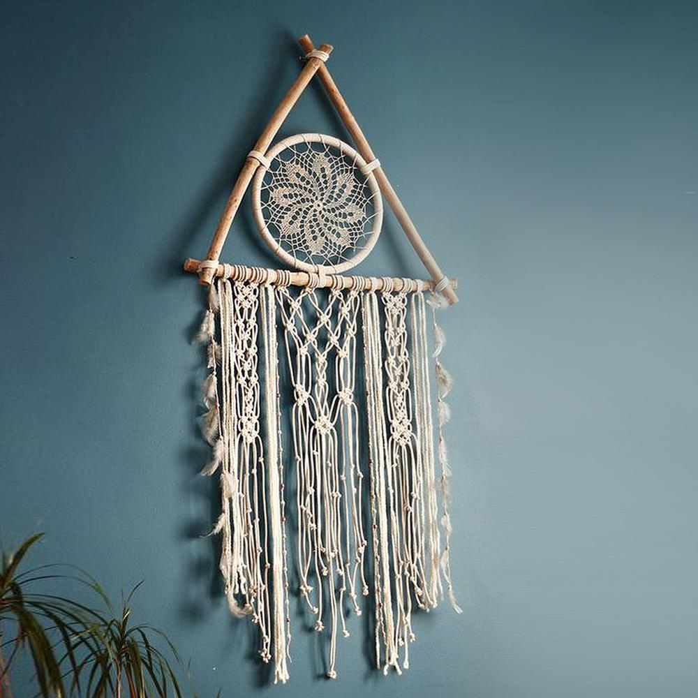 Nordic Dreamcatcher Tapestry Room Decoration Farmhouse Decor Handmade Dreamcatcher  Macrame Dreamcatcher   Gift For Women Men