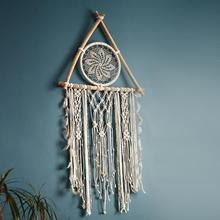 nordic dreamcatcher tapestry room decoration farmhouse decor handmade  macrame gift for women men