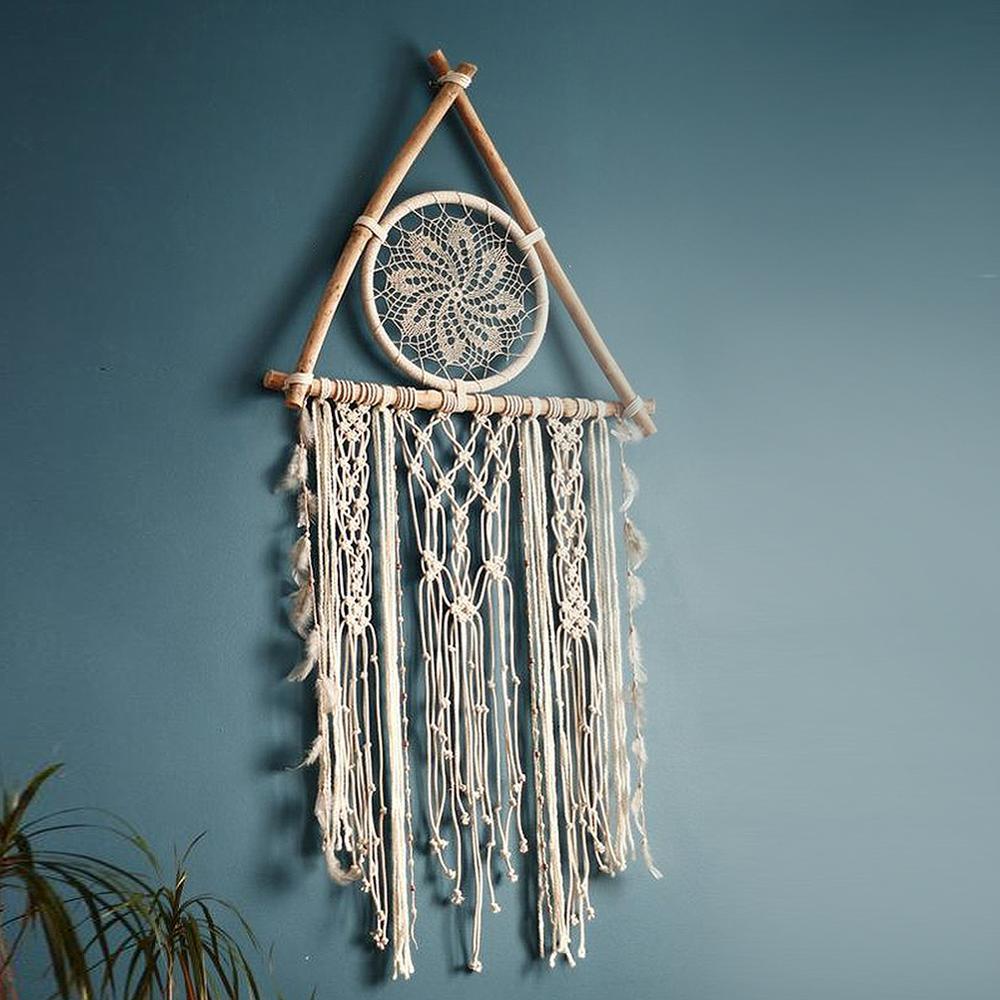 Nordic Macrame Dreamcatcher Tapestry Room Decoration Farmhouse Decor Handmade Makramee Dreamcatcher  Gift For Women