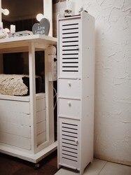 Armoire pour salle de bain Robin 120 х20х25 cm meubles de salle de bain bois plastique armoire étroite, étagère pour le stockage
