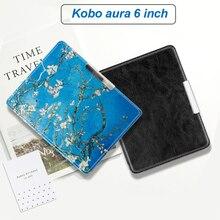 цена на Folio case for Kobo aura 6 e-reader protective cover skin for kobo 6 inch N514