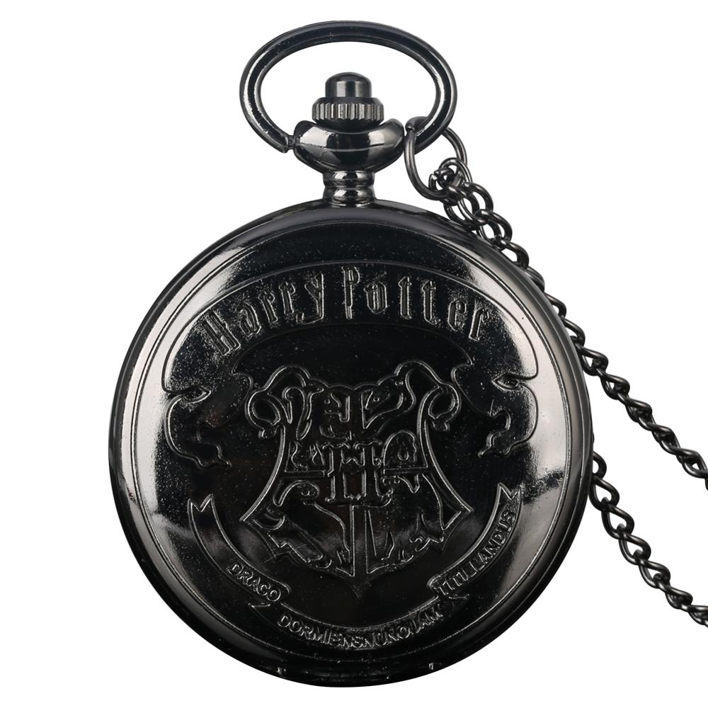 Cool Movie Extension Black 3D Animals Case Quartz Pocket Watch Women Men Necklace Clock Accessory Reloj De Bolsillo