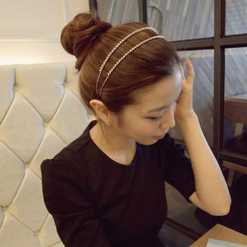 1 шт., модная повязка на голову с кристаллами и стразами, цвет золотистый, серебристый, женские ободки для волос, женский милый головной убор, обруч для волос, аксессуары для волос для девочек