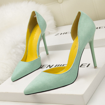 Suede Pointed Toe High Heels 3