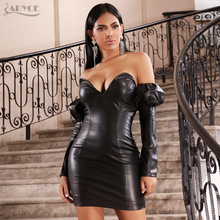 Zipper PU Leather Dress